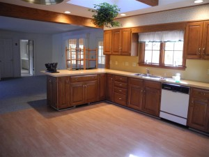 Kitchen at 25 Abenaukee Drive BEFORE Staging