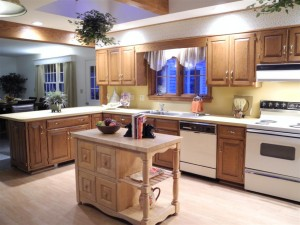 Kitchen at 25 Abenaukee after Staging by Robin Webster