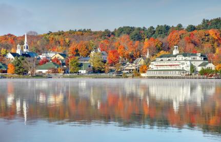 Lake Winnipesaukee in Meredith, New Hampshire