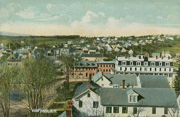 Birdseye View of Wolfeborough 1909