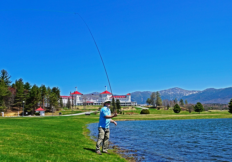 Fly Fishing at Bretton Woods, NH