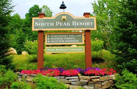 South Peak Sign
