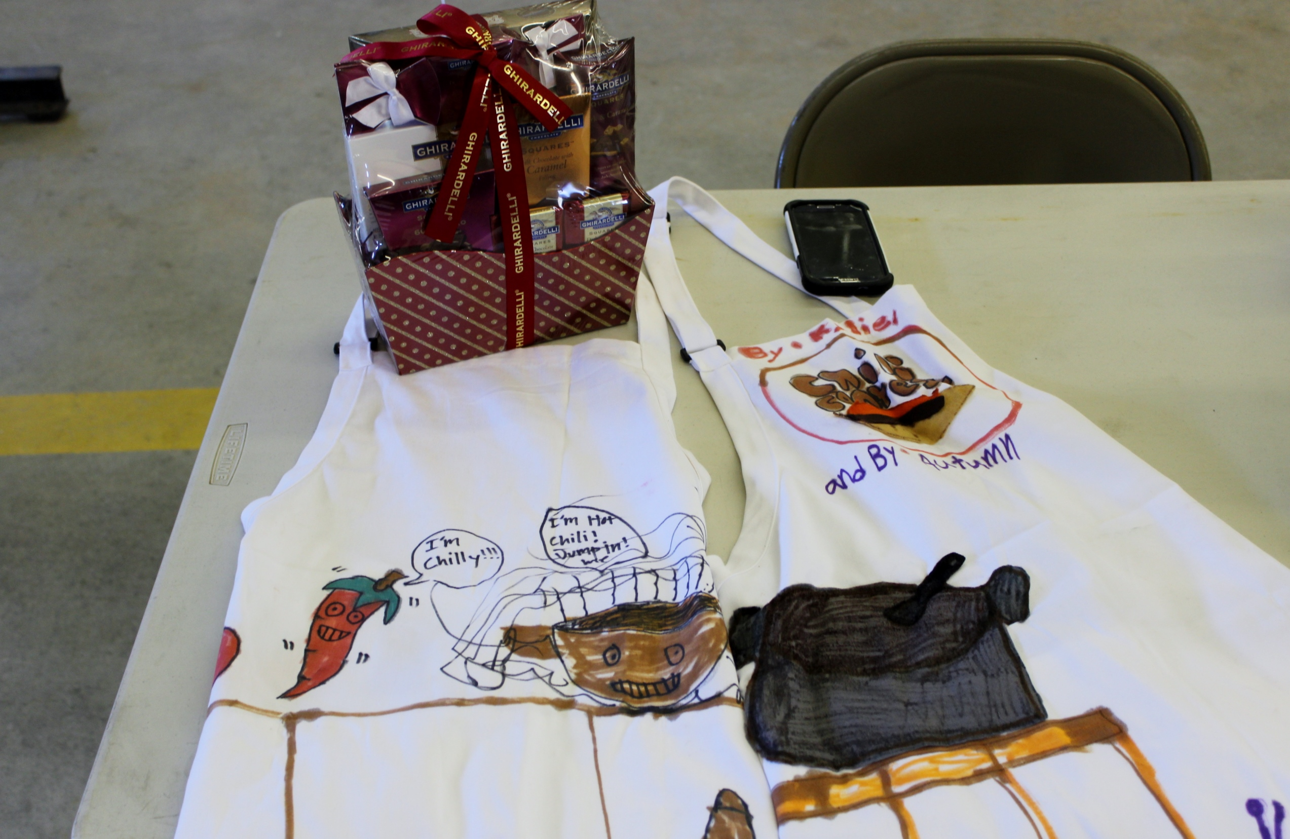 The New Suncook School Art Class once again designed the aprons for the winners!