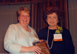 Lousie Condon receives Stephanie J. Kalin Distinguished Service Award