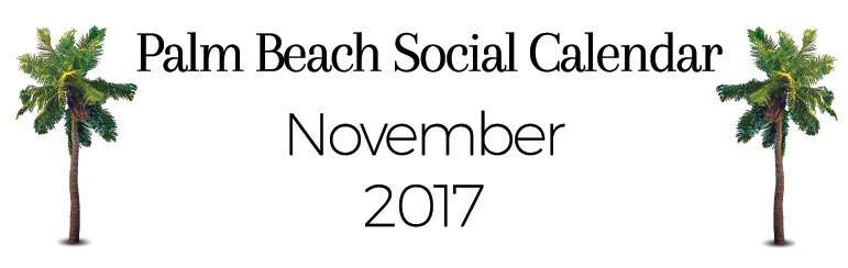 Palm Beach November Social Calendar Header