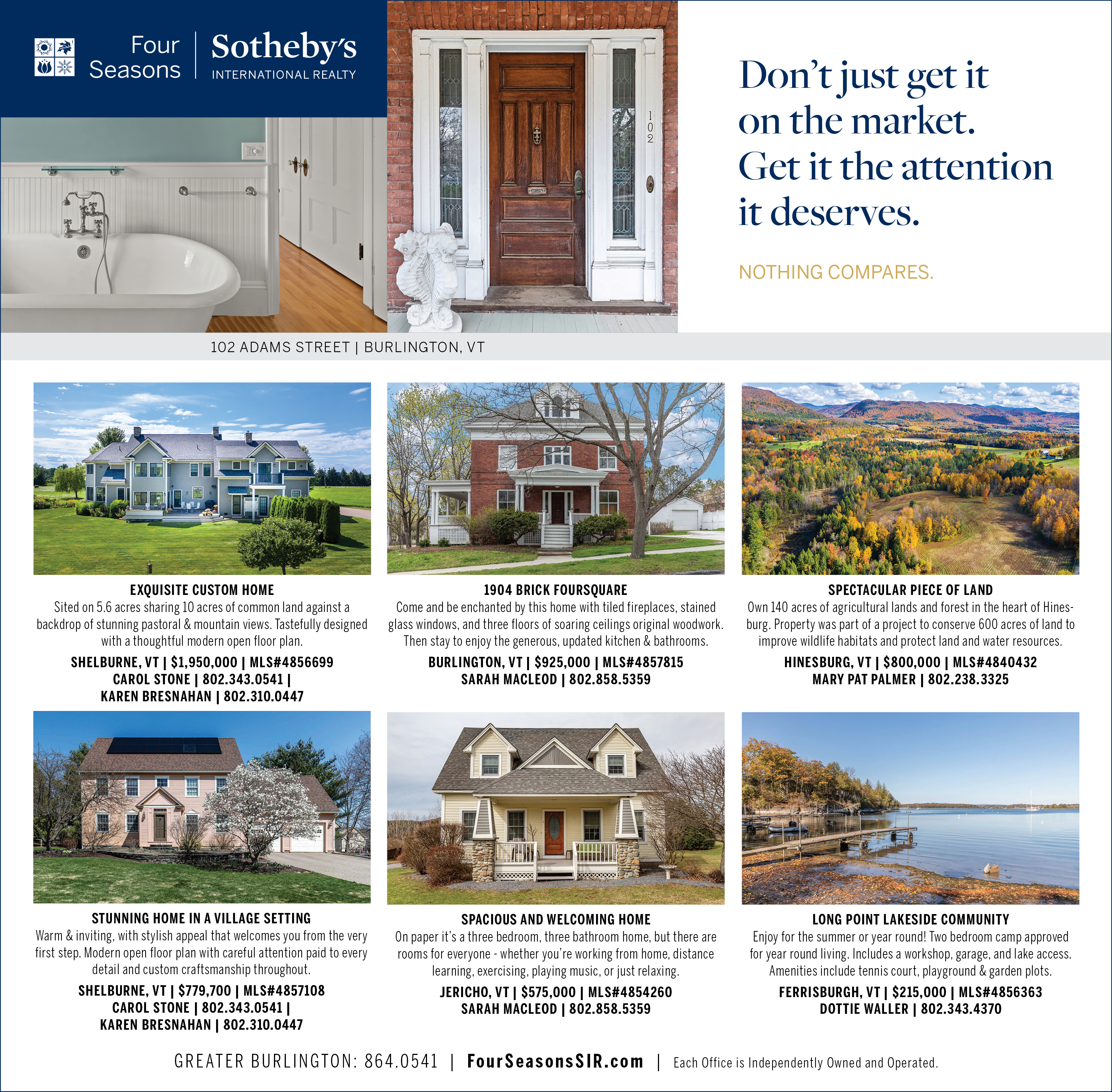 Don't just get it on the market. Get it the attention it deserves.