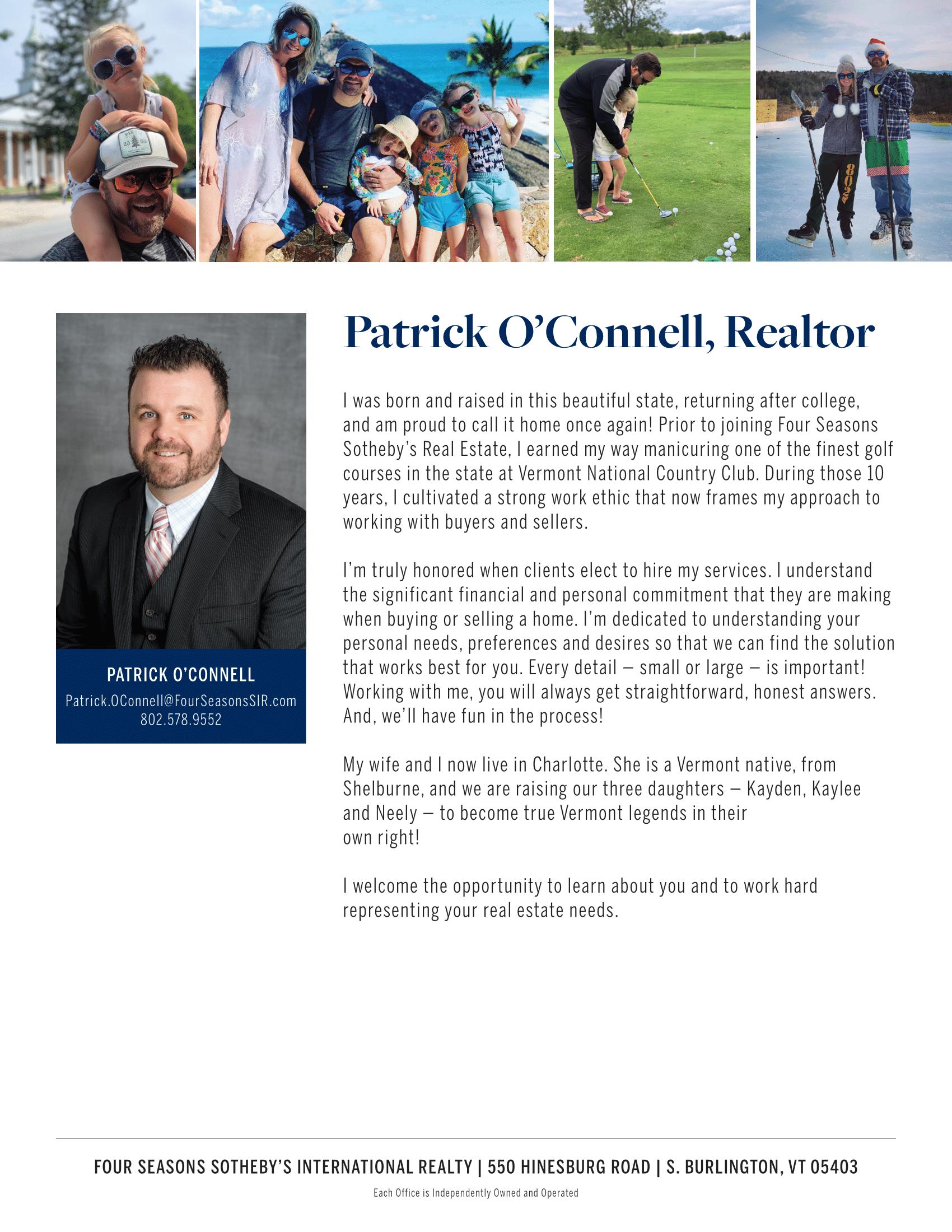 Patrick O'Connell, Realtor