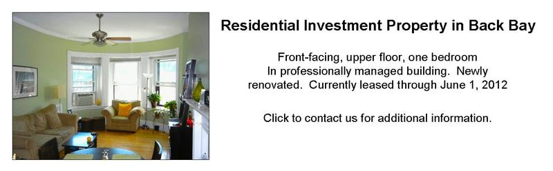 Back Bay Boston MA Residential Investment Property