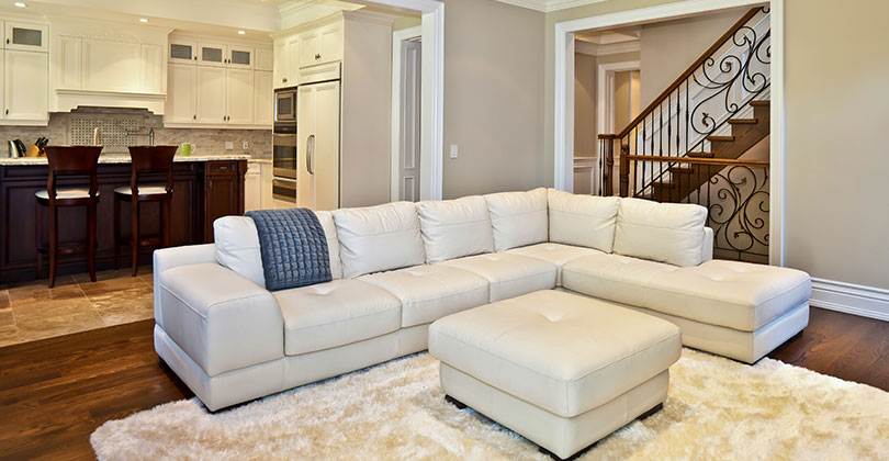 Neutral Walls in a Staged Living Room