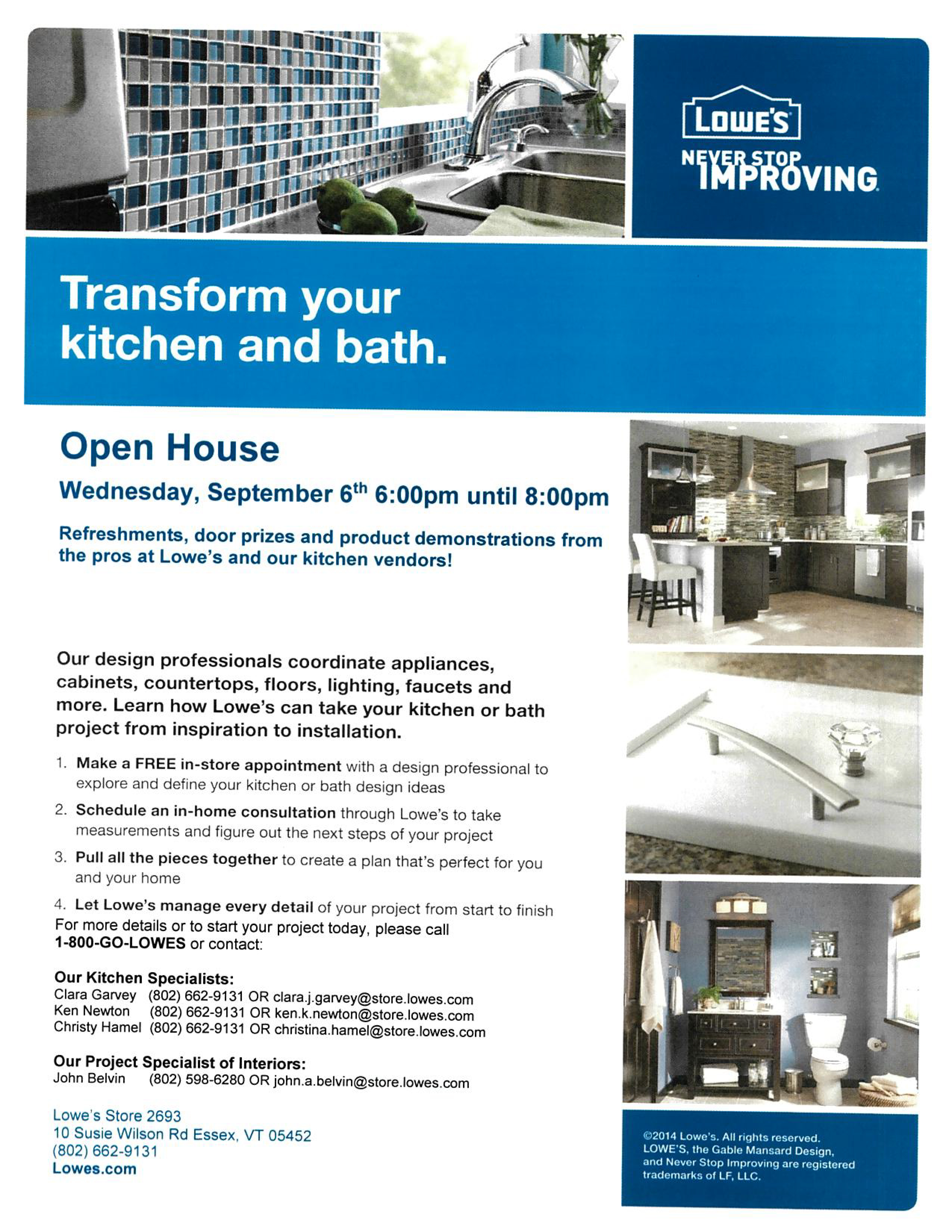 Lowes In Essex Is Having An Open House For Kitchen