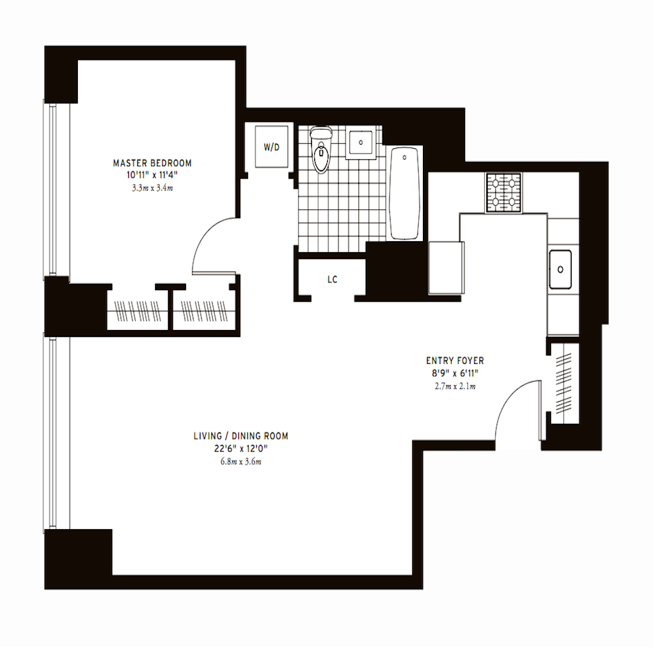 The Clarendon One Bedroom F