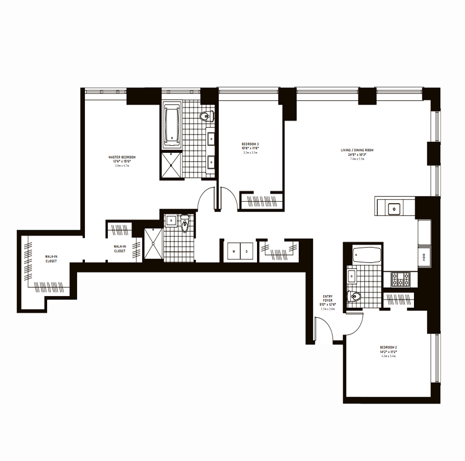 The Clarendon Three Bedroom A