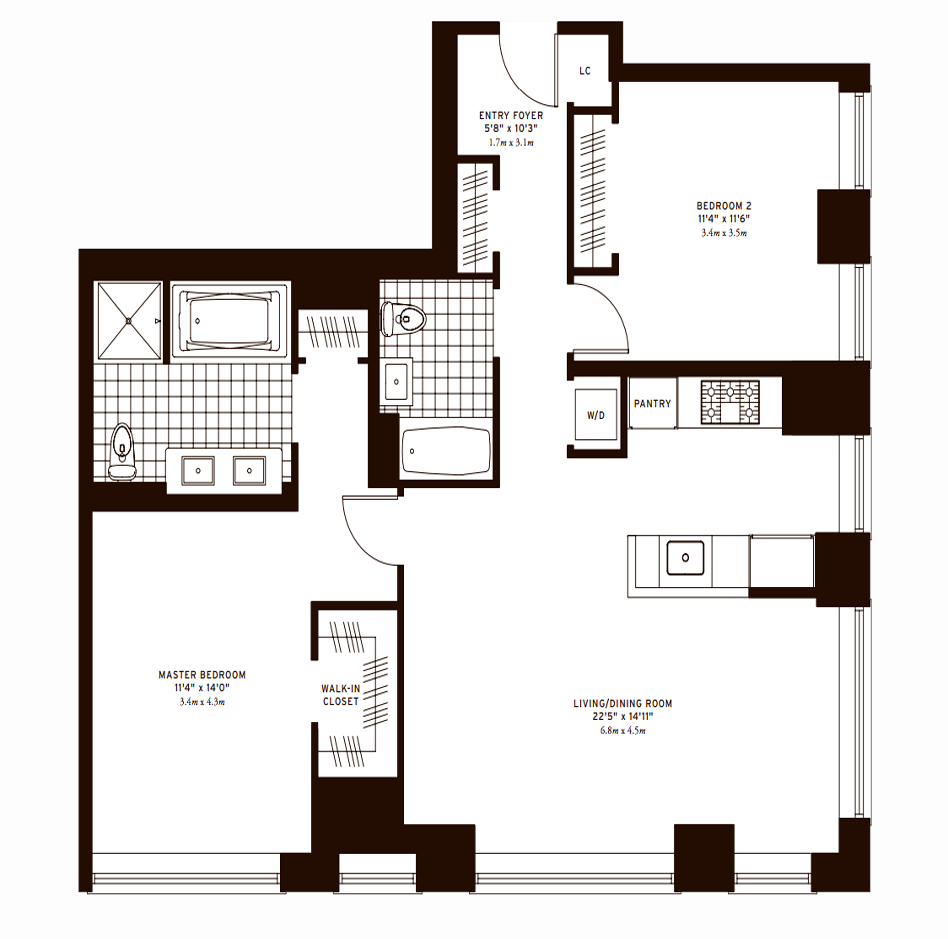 The Clarendon Two Bedroom C