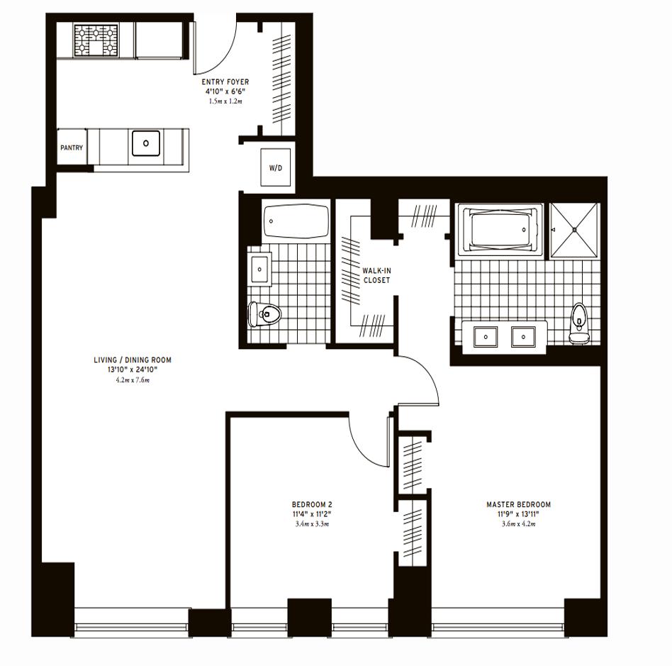 The Clarendon Two Bedroom Floor 15