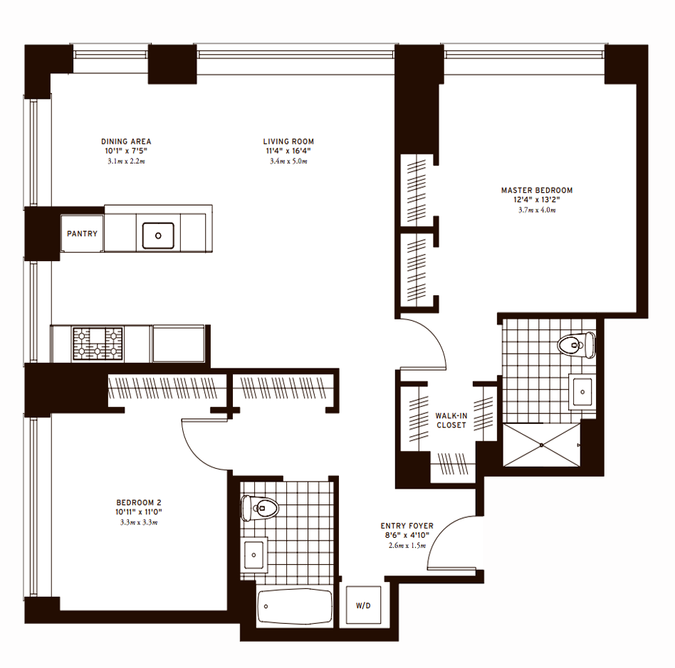 The Clarendon Two Bedroom B