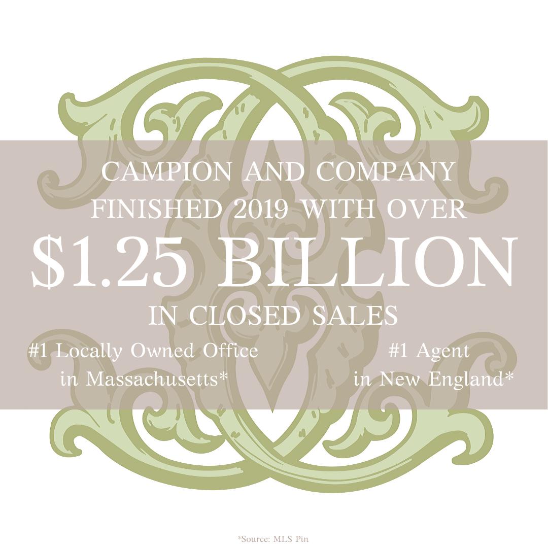 Campion & Company: Closed Sales in 2019