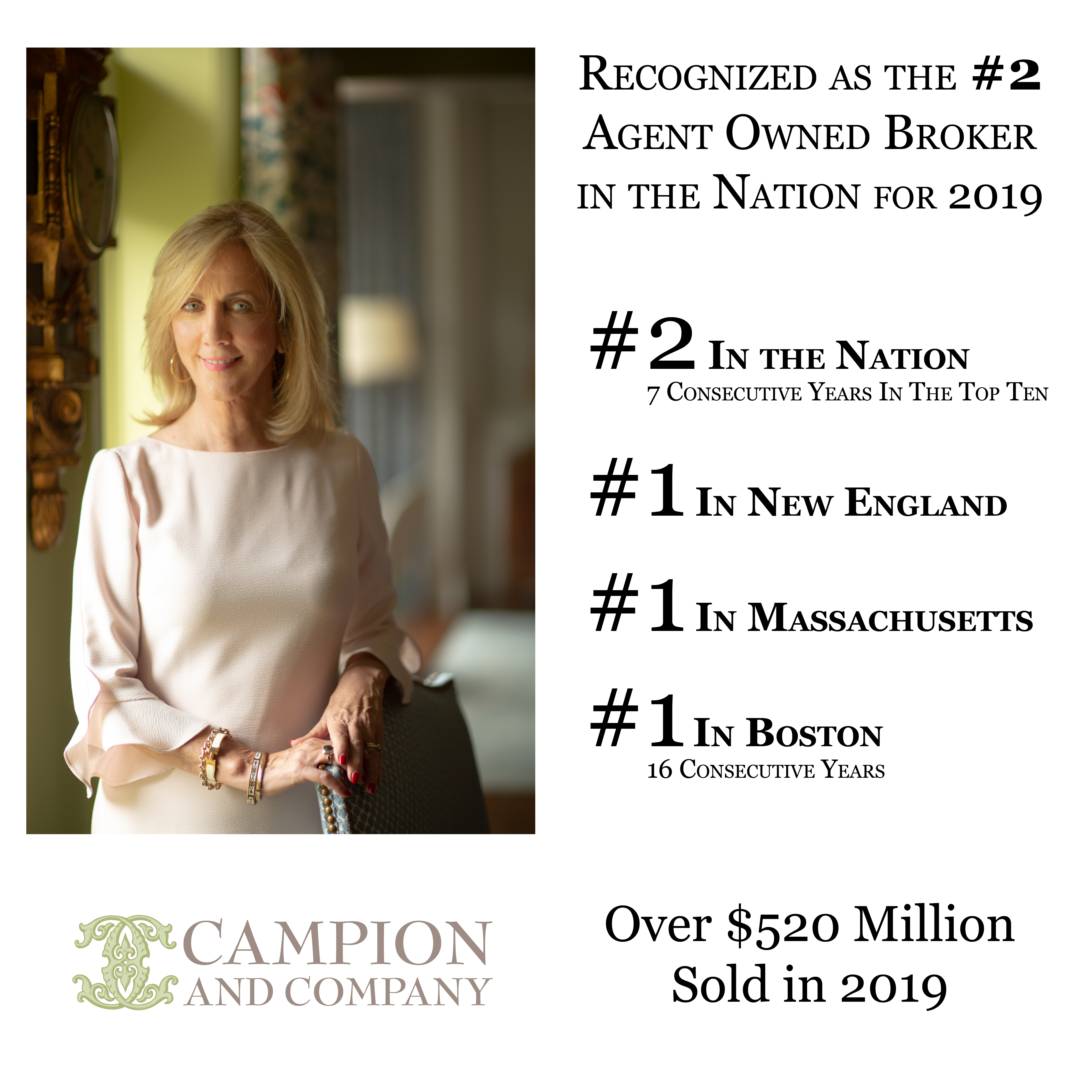 Tracy Campion: #2 Agent Owned Broker in the Nation 2019