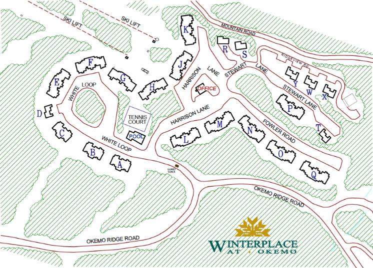 Okemo MT Winterplace Condo Site Map 2021