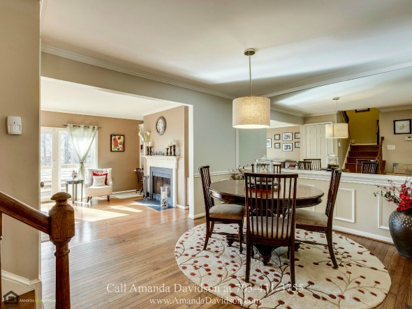 Alexandria VA Townhouses for Sale - The warm and inviting dining space of this Alexandria VA townhouse is a great gathering place when you are entertaining.