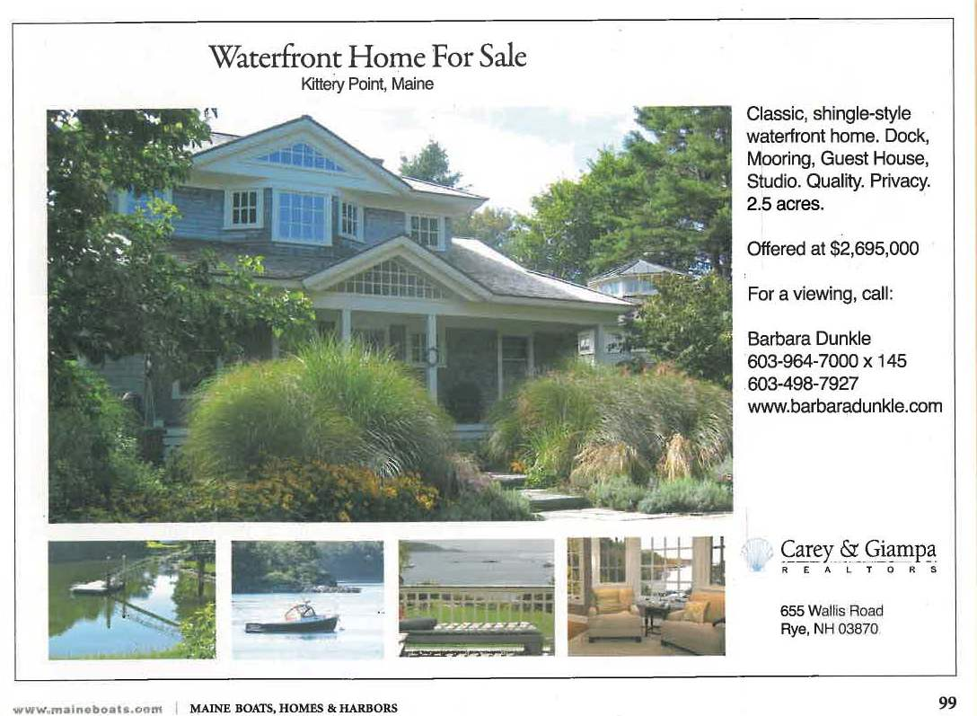 Maine Waterfront Home for Sale