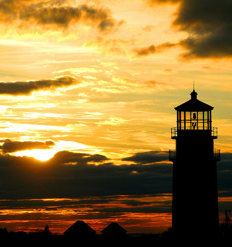 Cape Cod Lighthouse and Sunset