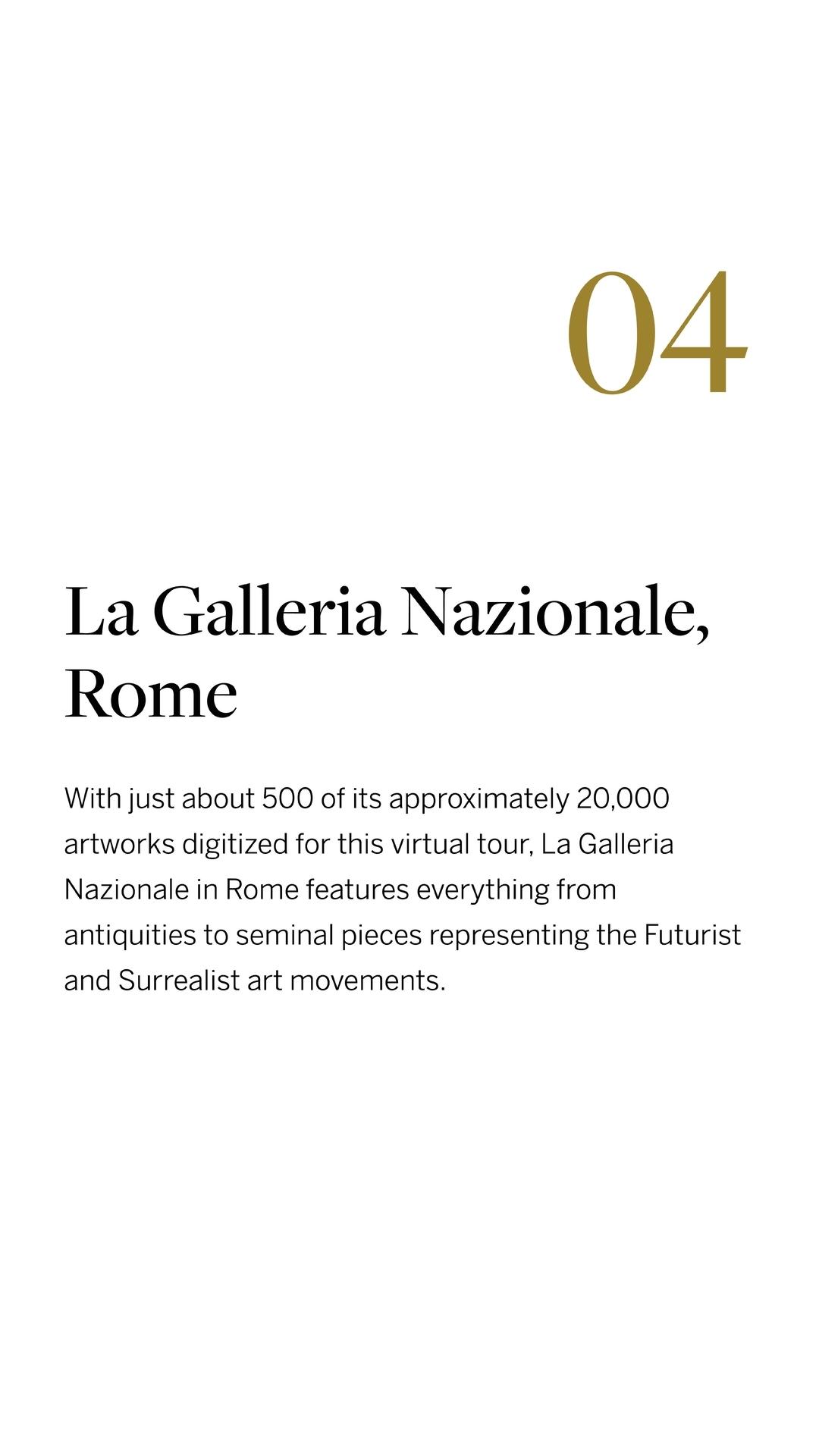 La Galleria Nazionale, Rome