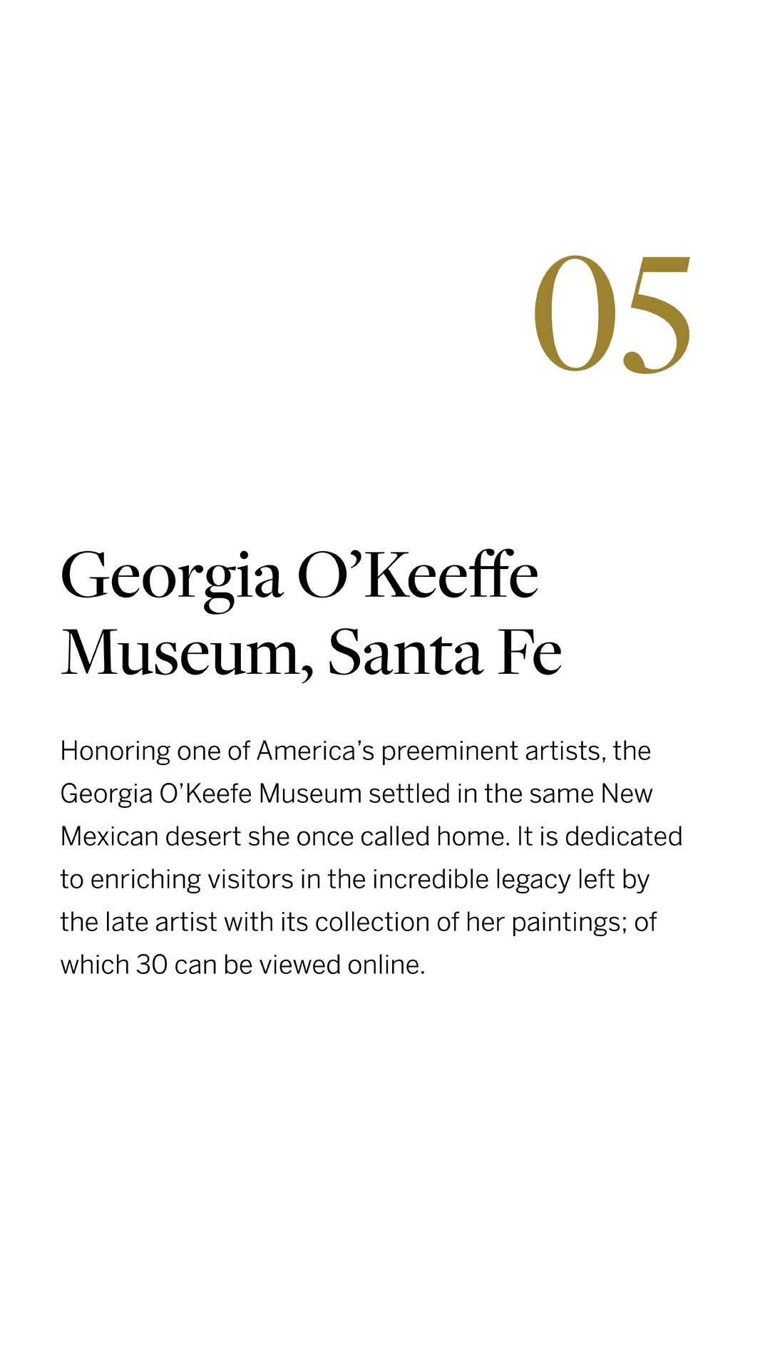 Georgia O'Keeffee Museum, Santa Fe