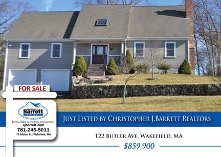 Wakefield MA Home Listed by CJ Barrett Realtors