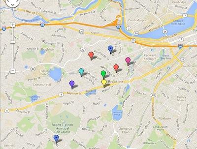 brookline school map