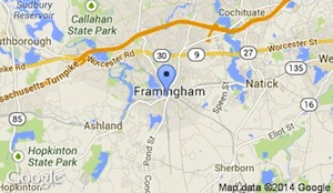 framingham station map