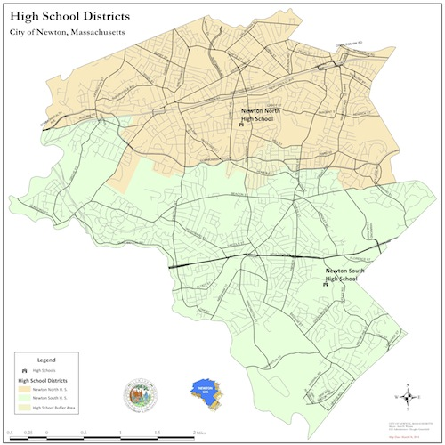 high school district map