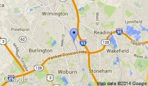 woburn station map