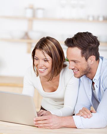 Couple Browsing on Computer