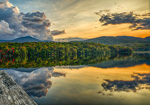 Killington VT Lake at Sunset