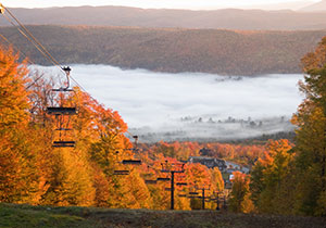 Stratton Vermont Slope in Fall