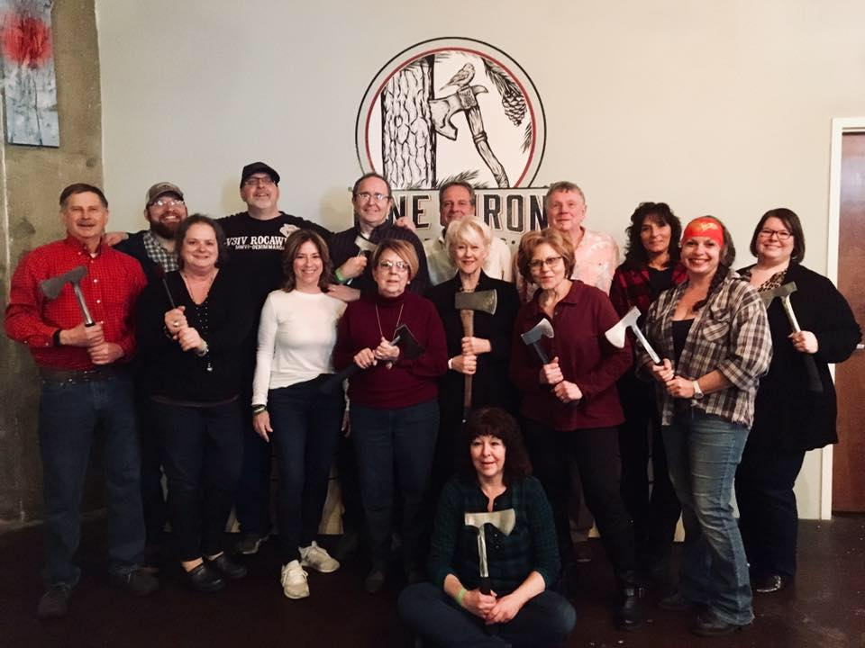 hst agents at pine & iron axe throwing event
