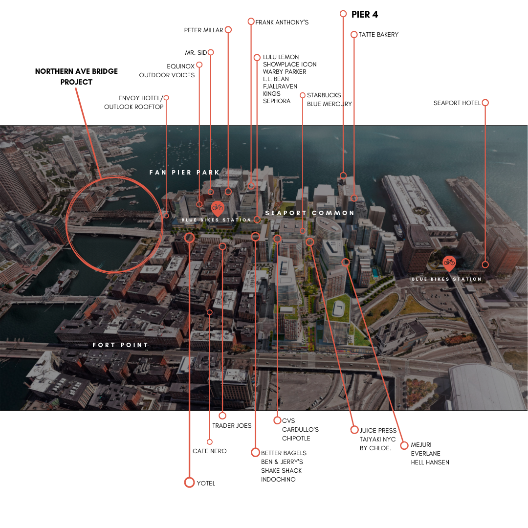 Map of Area Amenities for Pier 4 Residences