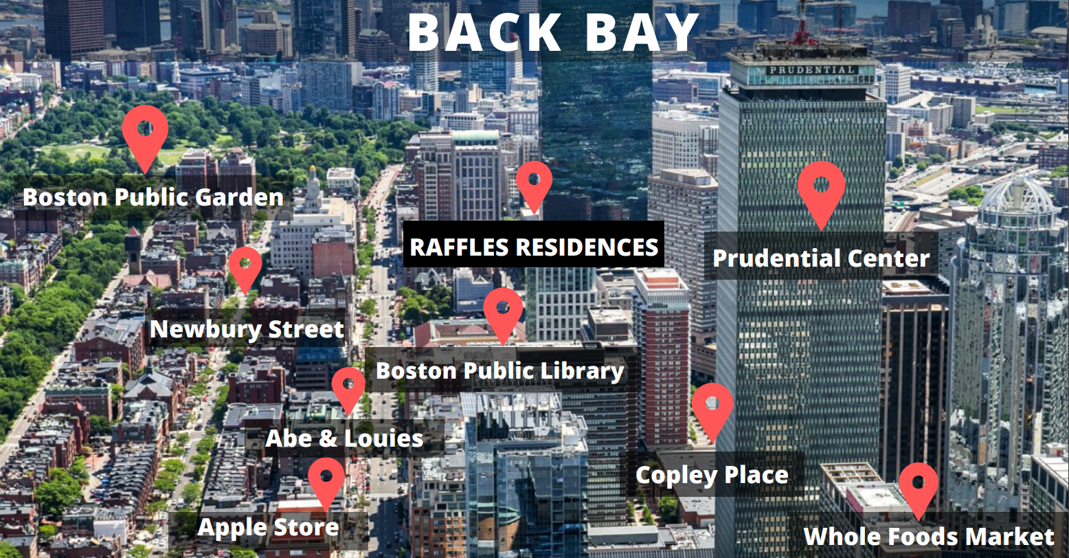 Map of Back Bay Amenities