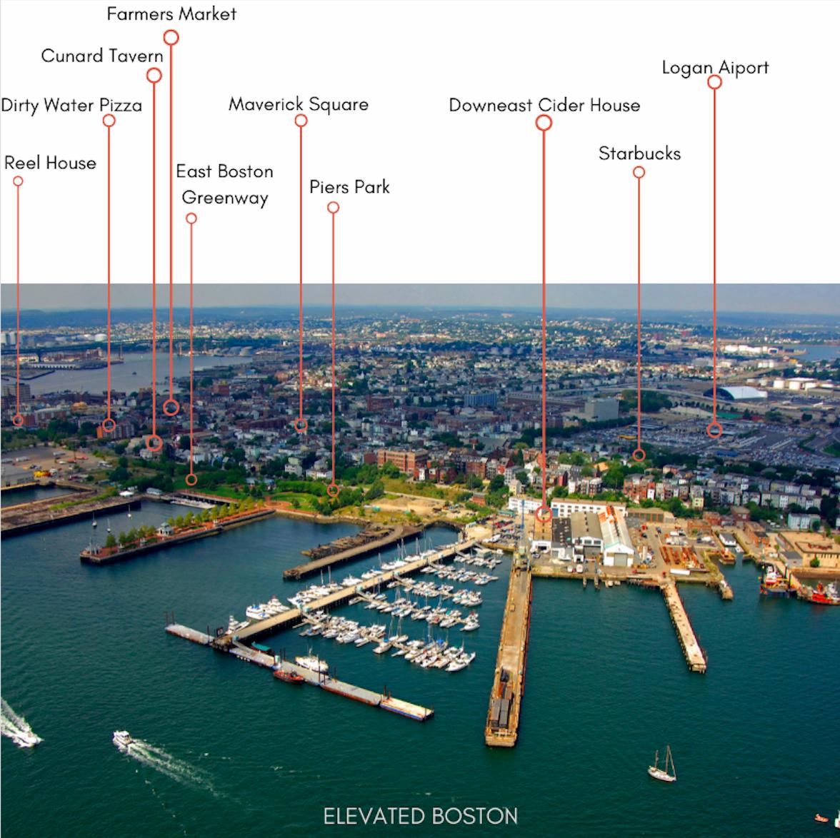 Map of East Boston Area Amenities