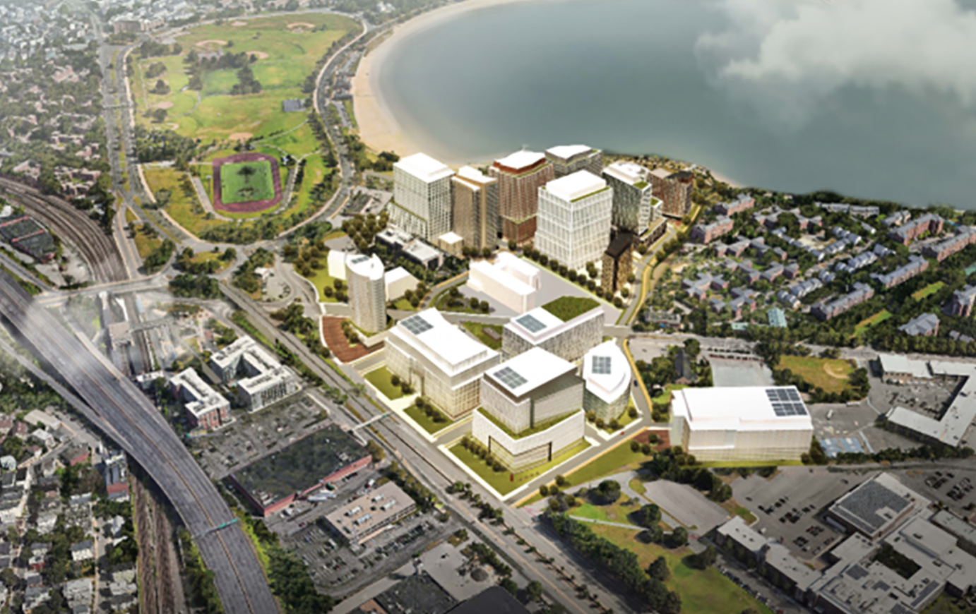 Dorchester Bay City Aerial View Rendering