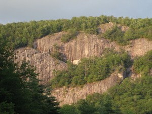 The rock face at Lonesome Valley