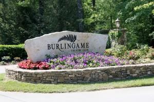 Burlingame Entance Sign
