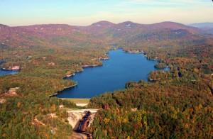 Lake Toxaway in the fall