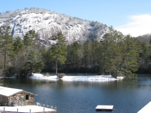 Winter scene at High Hampton in Cashiers NC