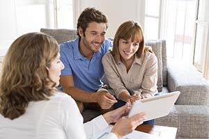 Realtor Working with Home Sellers