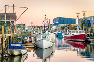 Maine Fishing Boats in the Harbor