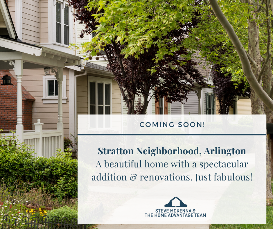 Coming soon to Arlington! New home in the Stratton neighborhood
