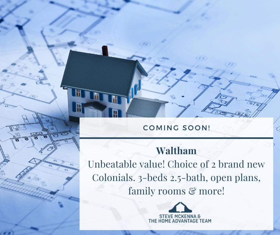 Coming soon to Waltham! New single-family home for sale