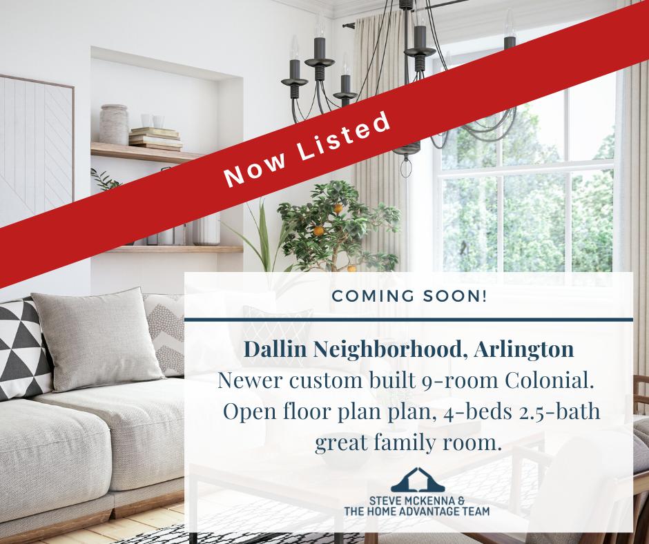 Now Listed in Arlington's Dallin Neighborhood