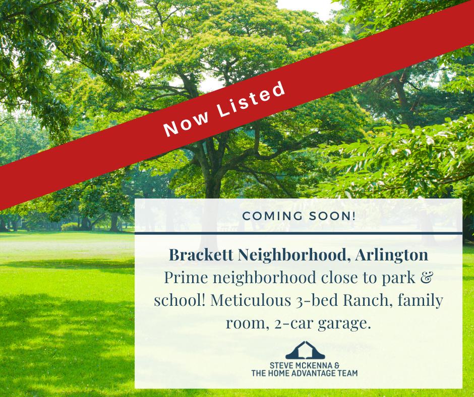 Now Listed in Arlington's Bracket Neighborhood